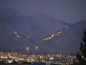 Fire in Organ Mountains, Las Cruces, NM