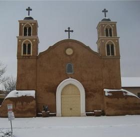 The Old San Miguel Mission church in Socorro, NM.