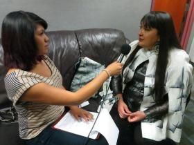 Brittany Tsosie interviewing Patricia Michaels