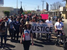 Generation Justice at the 2014 Cesar Chavez Day march