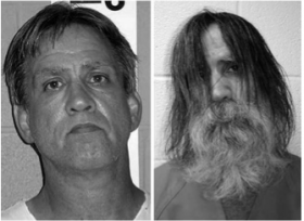 Stephen Slevin before and after solitary confinement