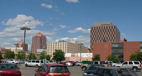 View of downtown Albuquerque skyline