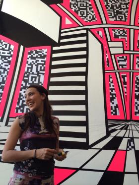 Artist Jessica Angel created two immersive pieces for Digital Latin America at 516 ARTS.