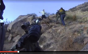 Screenshot from the Albuquerque Police Department video of James Boyd seconds before he was shot by officers on March 16, 2014. Parts of the video went viral and were broadcast on stations across the nation. This screenshot is taken from one of KRQE-TV's online stories.