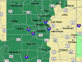 Dark green areas are where a Flash Flood Watch is in affect today through late tonight according to the National Weather Service.