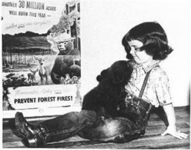 Judy Bell and Smokey Bear