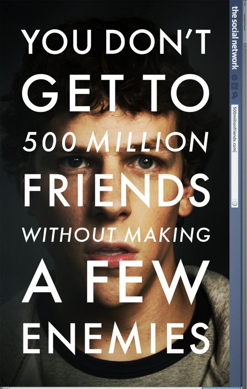 The Social Network movie poster.