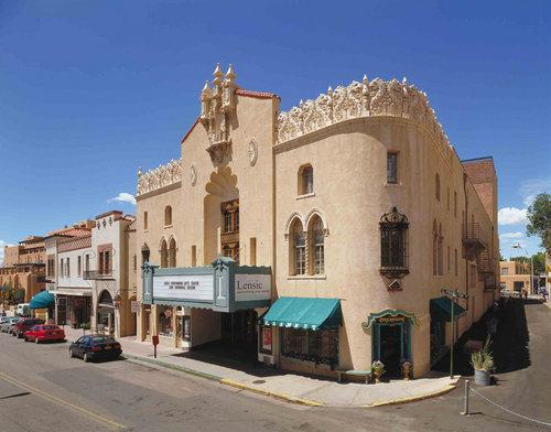 Lensic Theater, San Francisco Street, downtown Santa Fe