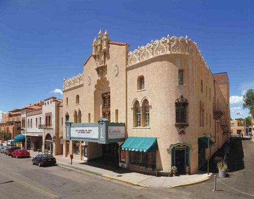 Lensic Theater, San Francisco Street, downtown Santa Fe