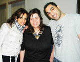 From left: Huwaida Arraf, Danya Mustafa, and Remi Kanazi at KUNM