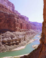 The Colorado River near Nankoweap Creek and the granaries, Grand Canyon