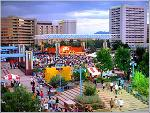 A summer concert in downtown Albuquerque