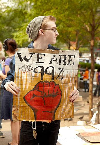 Occupy Wall Street protester (schiffc, Flickr Creative Commons)