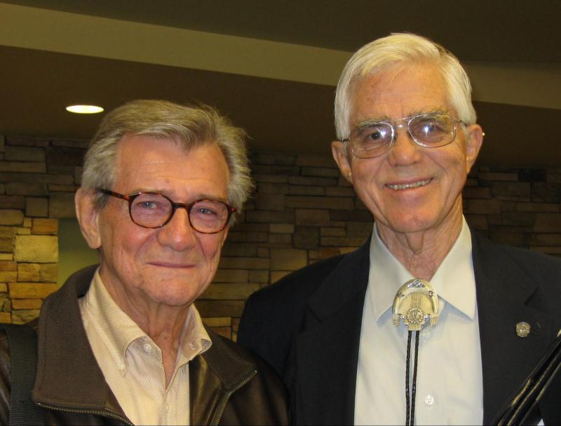 Professor Gerald Vizenor (Left) with Dick Frederiksen