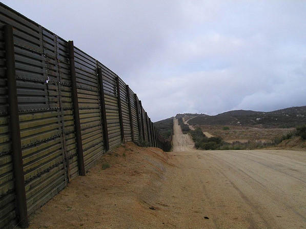 A section of the U.S./Mexico Border wall in New Mexico.