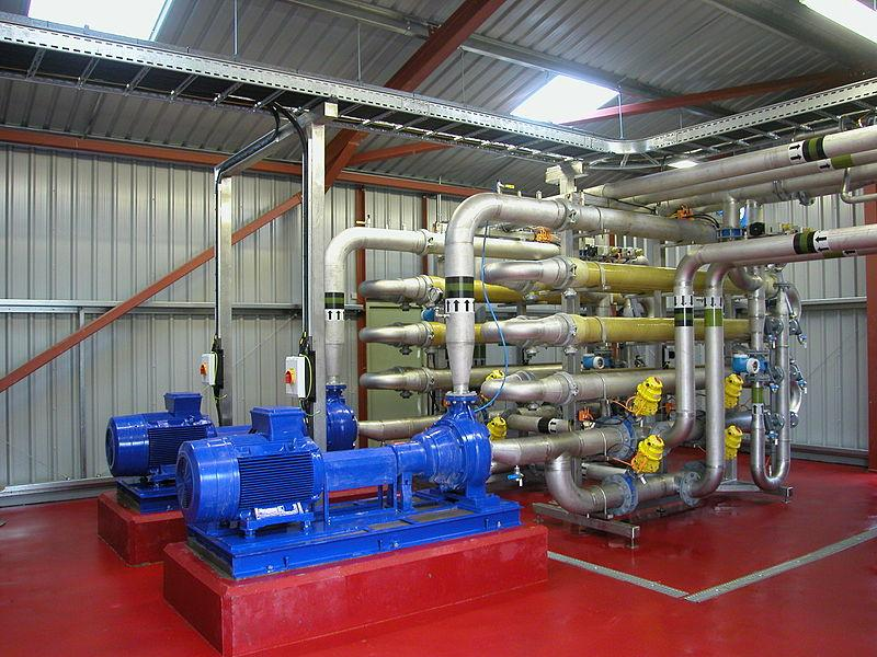 Ultrafiltration membrane system used on an activated sludge wastewater treatment plant.