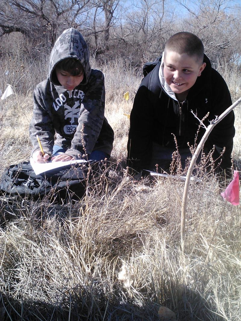 Students at Whitfield Wildlife Conservation Area
