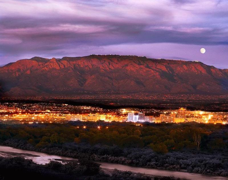 Albuquerque at sunset