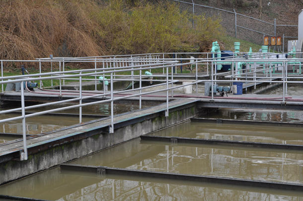 The wastewater treatment plant at Penn State.