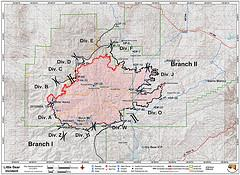 Little Bear Fire map, June 12, 2012.