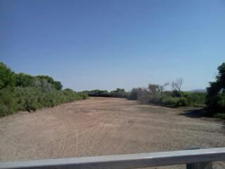 On Tuesday, the Rio Grande was dry in San Antonio, just south of Socorro, NM.
