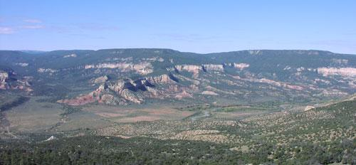 Overlooking the Rio Chama located in Northern New Mexico within the Coyote Ranger District of the Santa Fe National Forest.