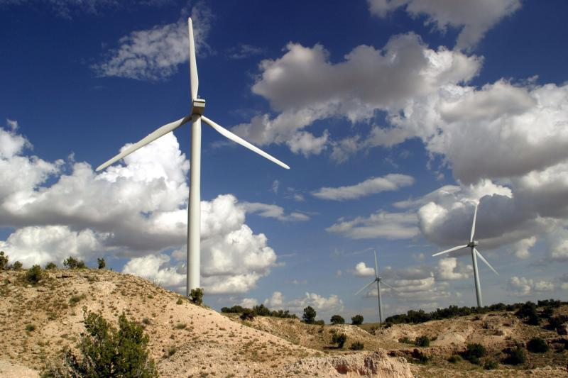 The New Mexico Wind Energy Center is 170 miles southeast of Albuquerque.