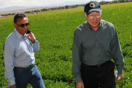 Last September, Interior Department Secretary Ken Salazar and Bernalillo County Commissioner Art De La Cruz toured Price's Dairy.