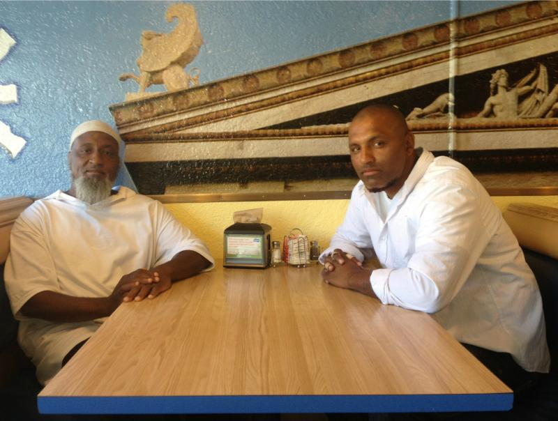 Ermond 'Mustafa' Overton and Abdu Wakil Cyeef Din at the Olympia Cafe in Albuquerque.