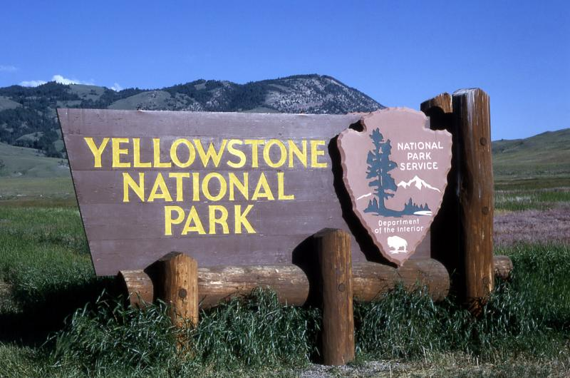 Yellow Stone National Park Sign