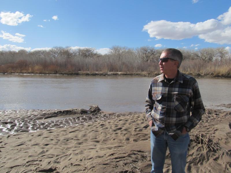 Dr. Clifford Dahm along the Middle Rio Grande