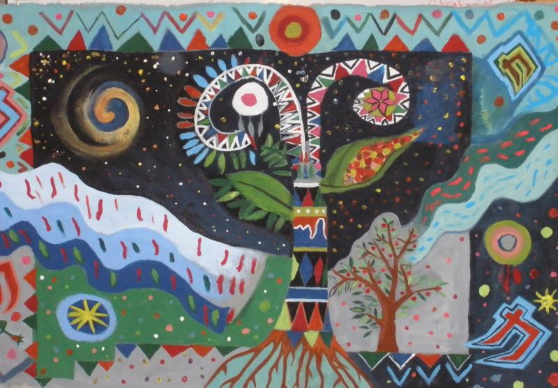 "Mural: ""The Tree-ver of life"", La Plazita Institute"