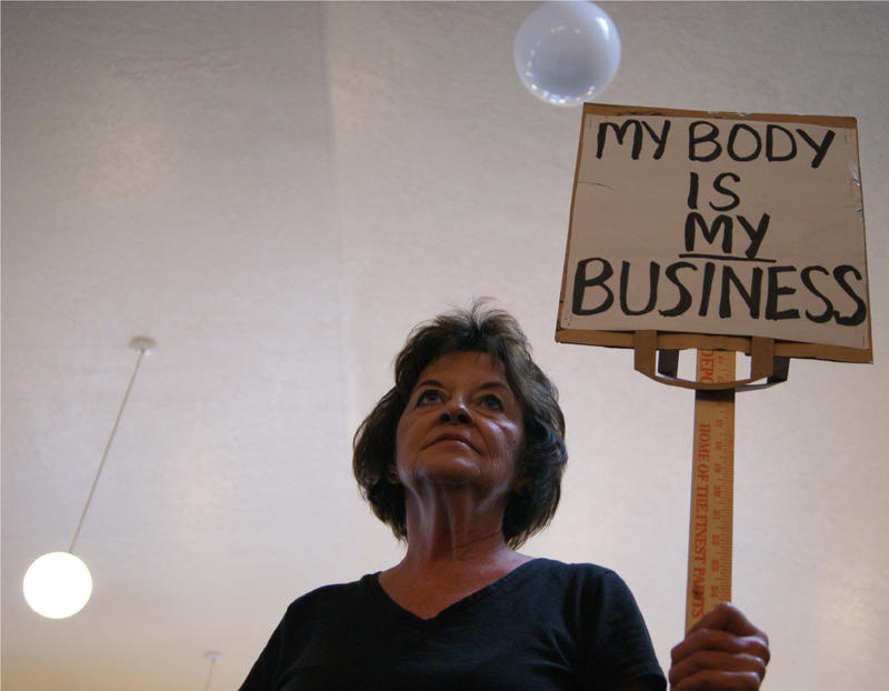 Jeanette Smith said she doesn't believe the government has a right to make decisions about her body. She pointed out that no one wants to have to have an abortion.