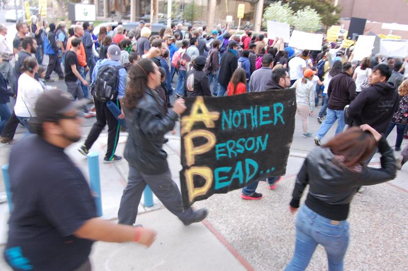 Activists say APD stands for Another Person Dead.