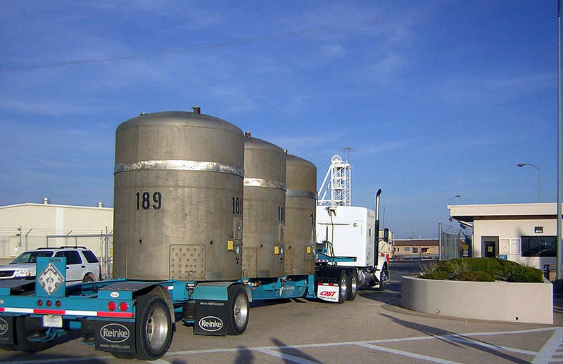 The last Nevada Test Site legacy transuranic waste shipment enters the Waste Isolation Pilot Plant.
