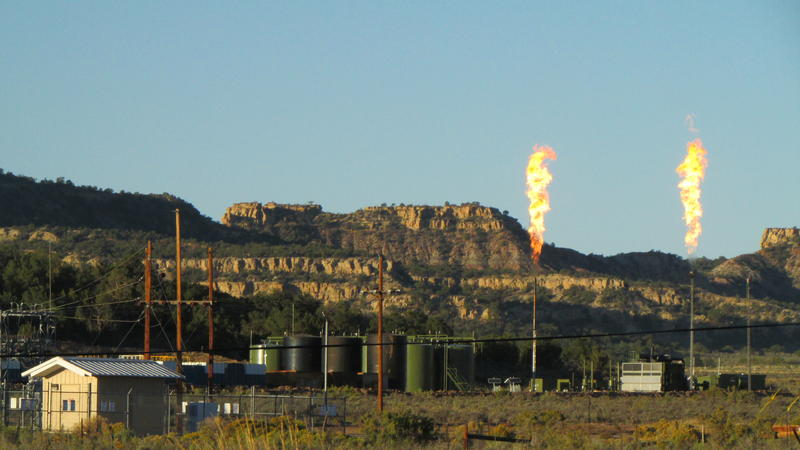Flares from natural gas wells