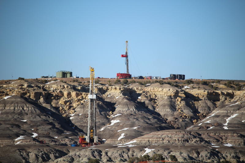 Right now, there are only two active rigs--like these--drilling brand-new wells in the San Juan Basin. But there's the potential for more than 3,600 new wells.