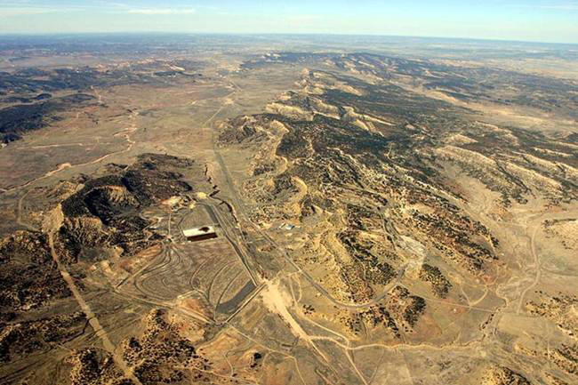 aerial view of the Church Rock uranium mine in McKinley County
