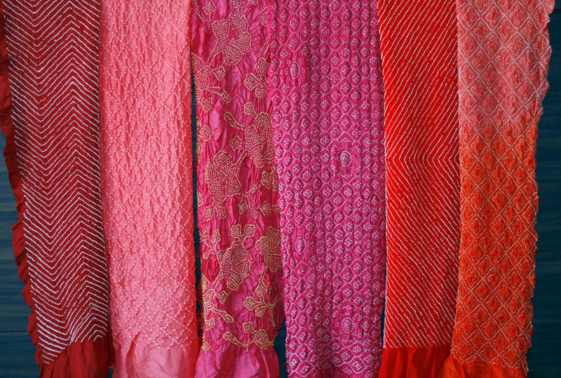 Bhandani cloth in red