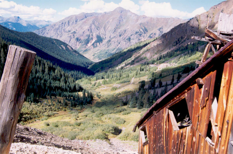 View from an old miner's cabin outside Silverton, Colorado.