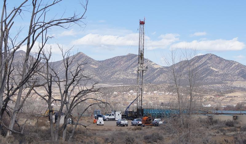 Natural gas well in Garfield County, CO