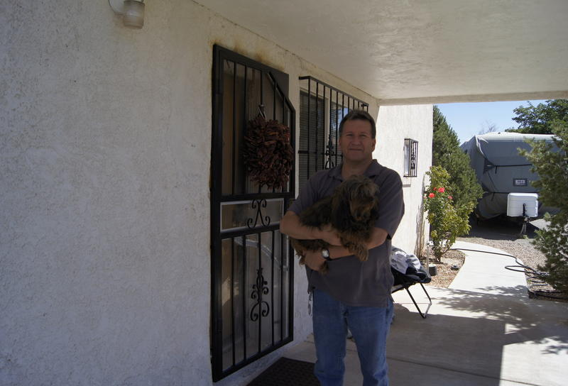 Robert Miranda at his home in Albuquerque's Sawmill District