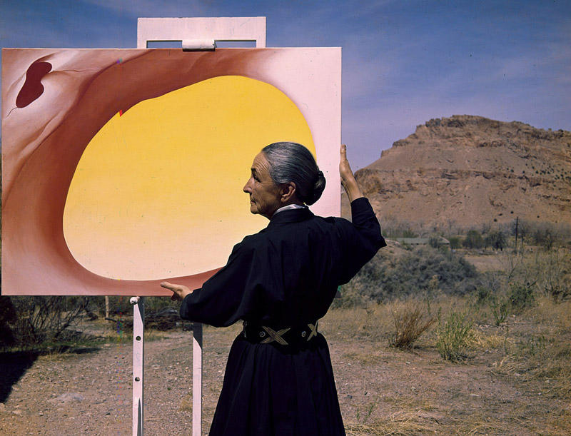 Georgia O'Keeffe in New Mexico in 1960 (photographed for Look Magazine).