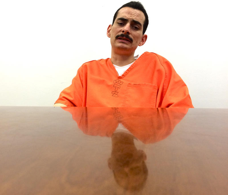 Rudy Martinez in July in the San Juan County Adult Detention Center