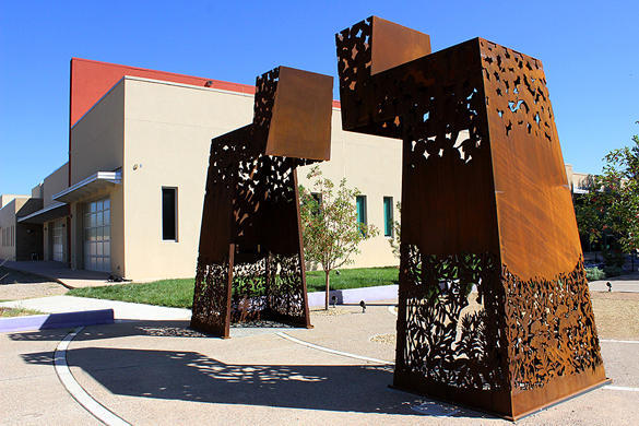 """Warriors Repose"" on the campus of the National Hispanic Cultural Center in Albuquerque"