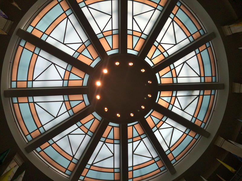 The ceiling above the Roundhouse rotunda