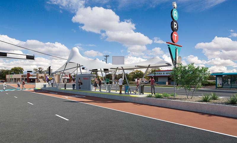 Rendering of proposed rapid transit station