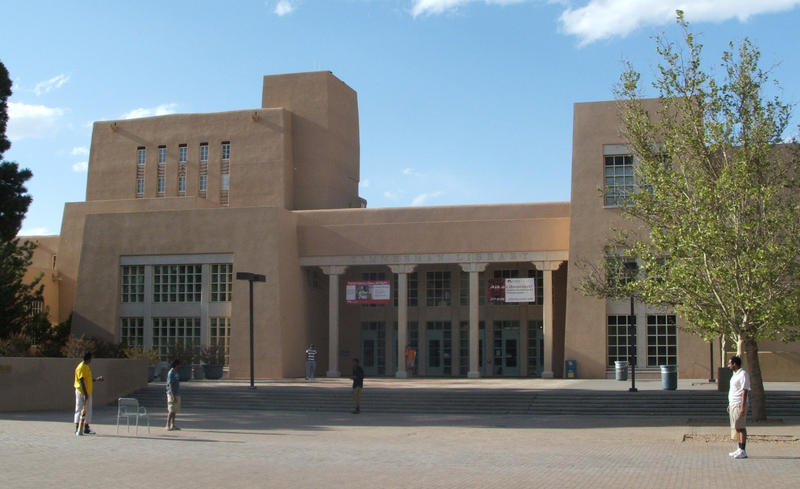 Zimmerman Library, UNM campus