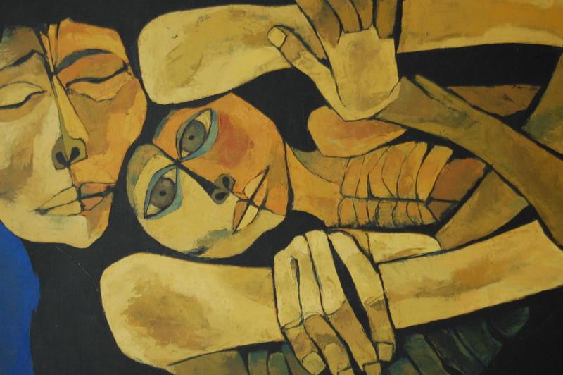 """Madre y niño"" by Oswaldo Guayasamin (Ecuador)"