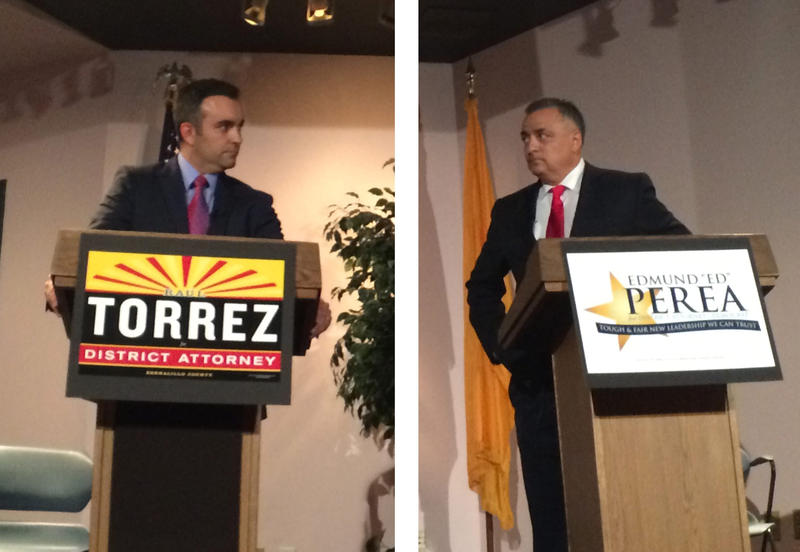 Candidates Raul Torrez and Ed Perea discussed important issues facing Bernalillo County's next district attorney.